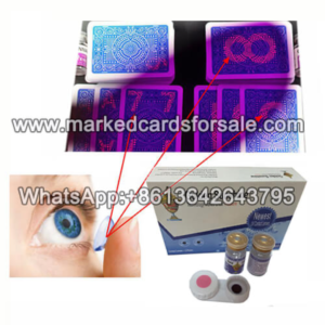 How to play with the marked cards contact lens?